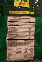 Almendra natural - Nutrition facts
