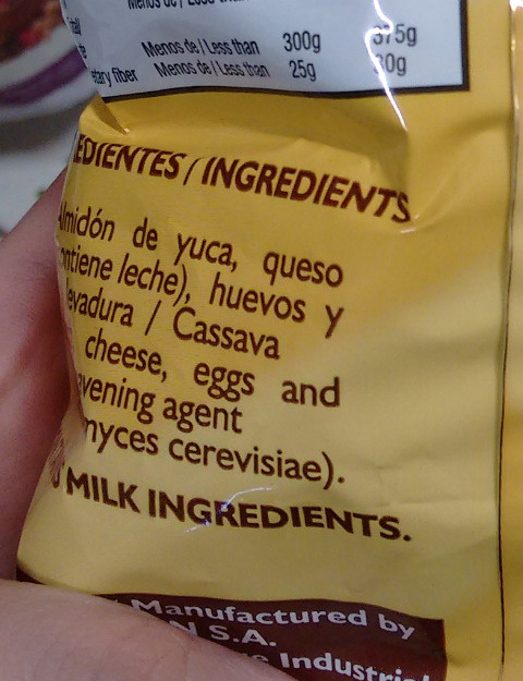 Rosquitas de Queso - Ingredients