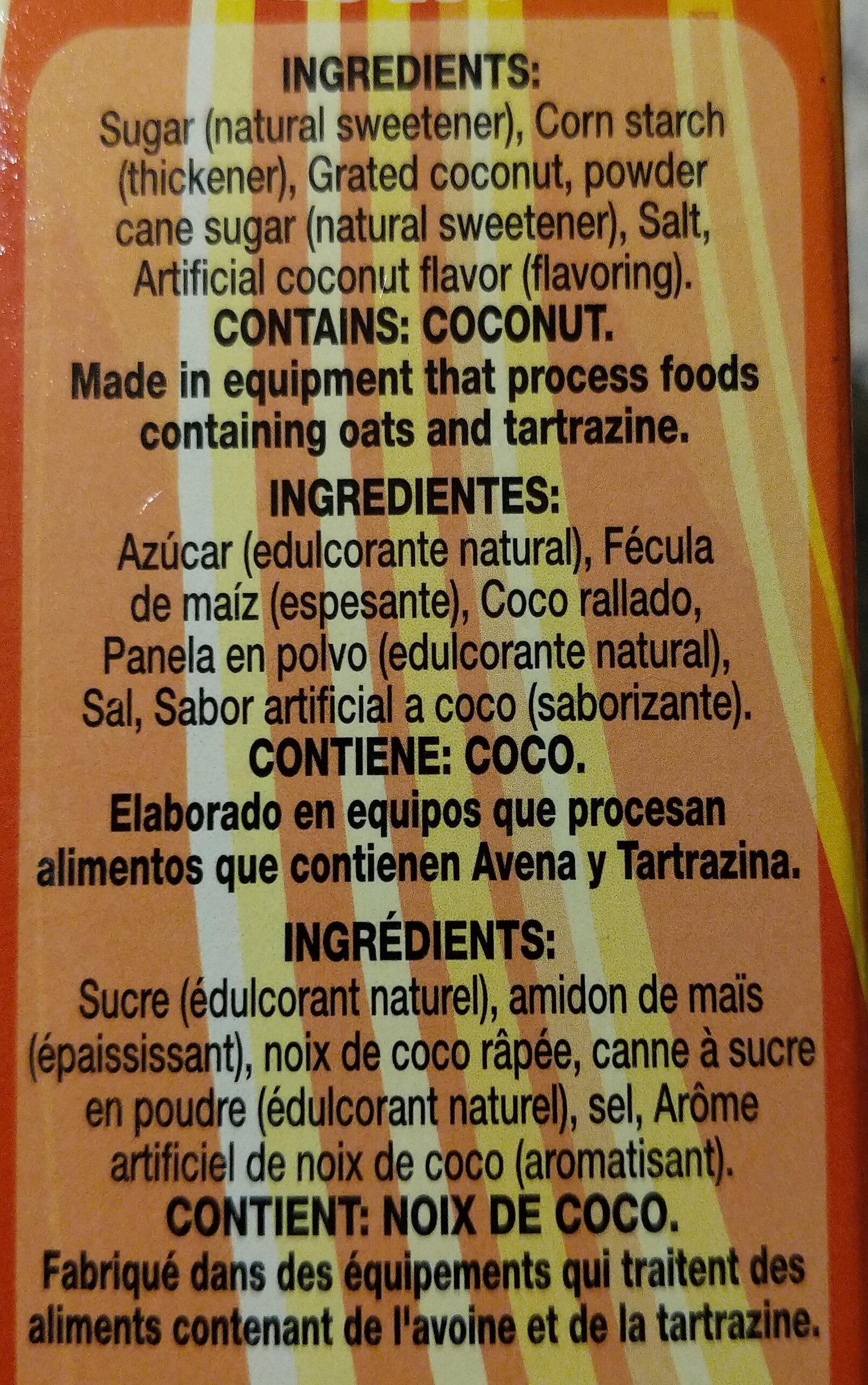 Cornstarch Custard Natilla Coconut - Ingrédients - en