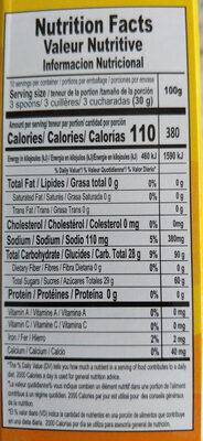 Cornstarch Custard Natilla Caramel - Informations nutritionnelles - en