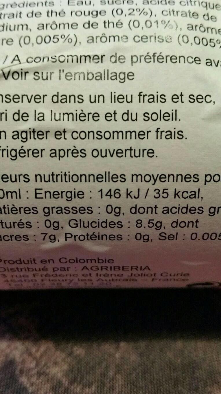Hatsu Pu-erh Red Tea X 400ML - Informations nutritionnelles - fr
