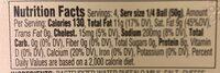 Mozzarella di bufala - Nutrition facts - en