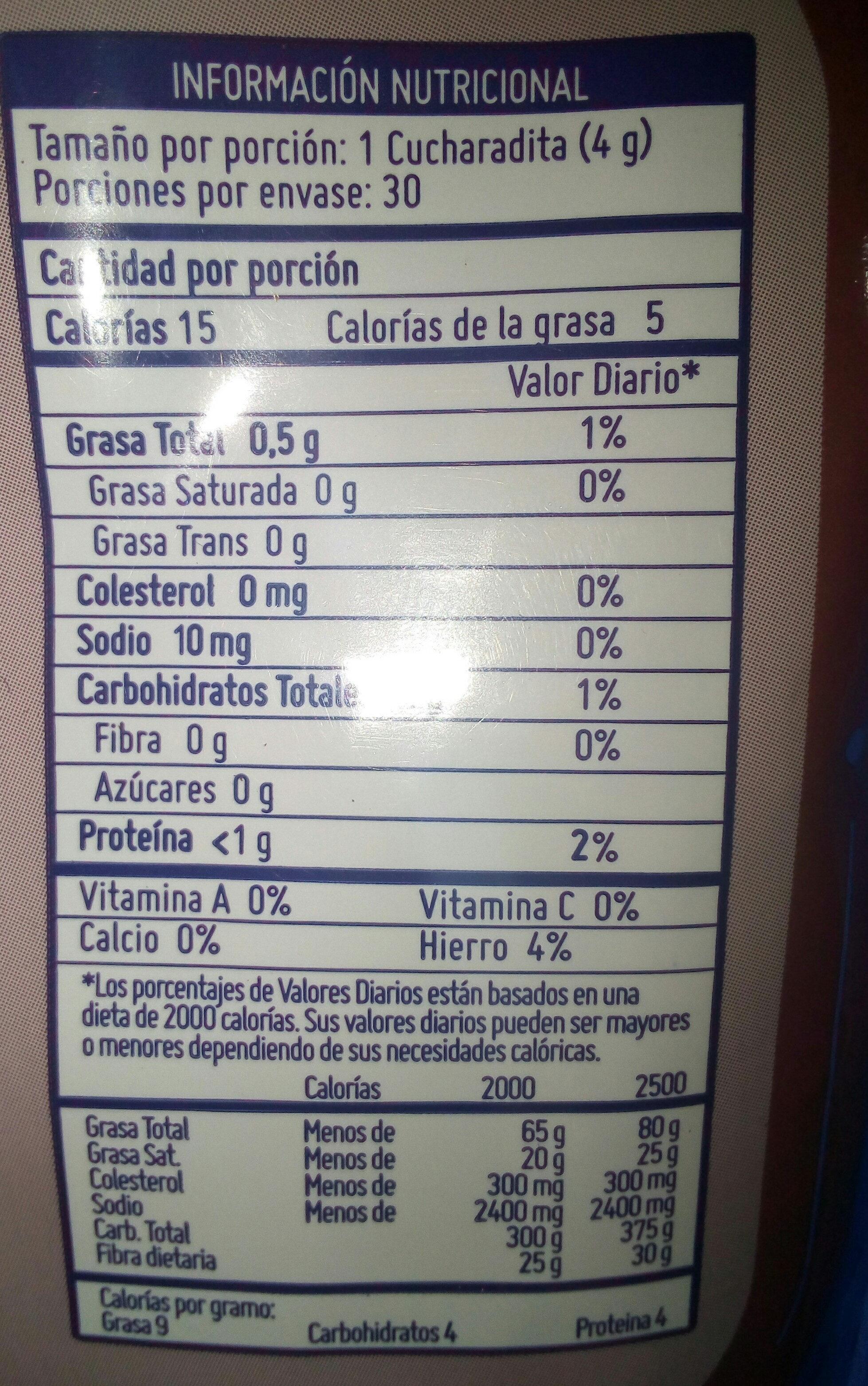Cacao en polvo - Nutrition facts