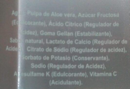 Bebida de Aloe Vera Light - Ingredients