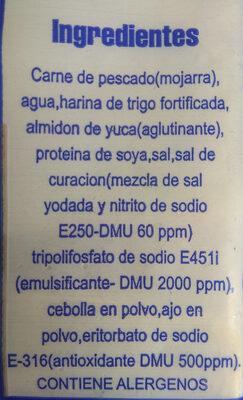 Lomitos de mojarra - Ingrediënten - es