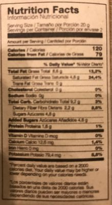 Chocolate negro 77% - Nutrition facts - fr