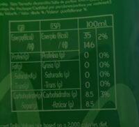 TAMESIS ALOE VERA - Nutrition facts - es
