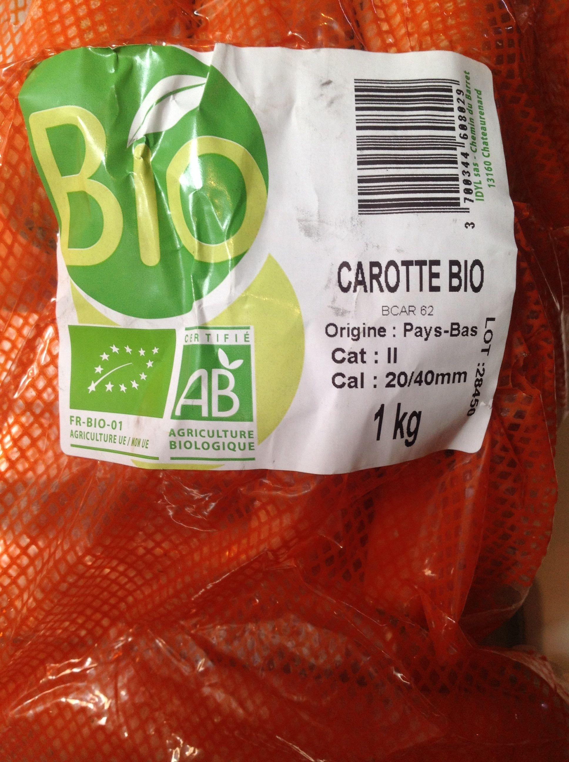 Carotte bio - Product