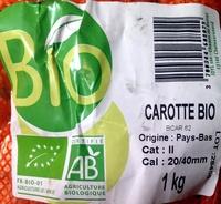 Carotte bio - Ingrediënten