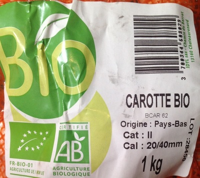 Carotte bio - Voedigswaarden