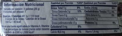 Galletas Club Social Fibra 26 G. X 1 - Ingrediënten