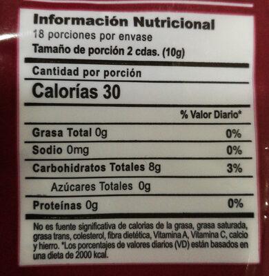 Harina de chuño - Informations nutritionnelles