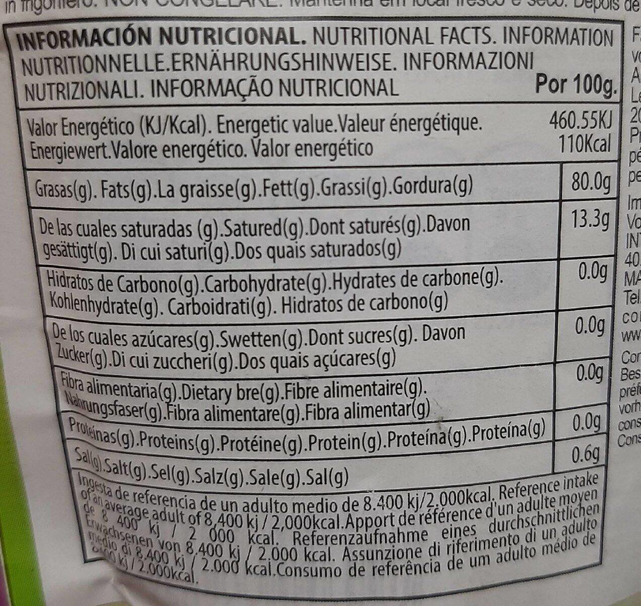 Mayonesa Alacena - Voedingswaarden - es