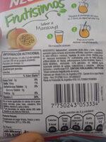 Negrita Frutisimos con Stevia - Nutrition facts - es