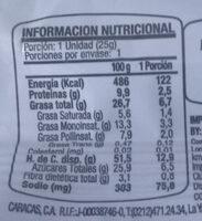 Cereal Bar Nuts Almendras - Nutrition facts - es