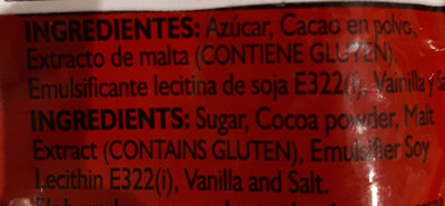 Chocolate - Ingredients - es