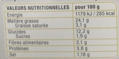 Chef Quinoa - Informations nutritionnelles