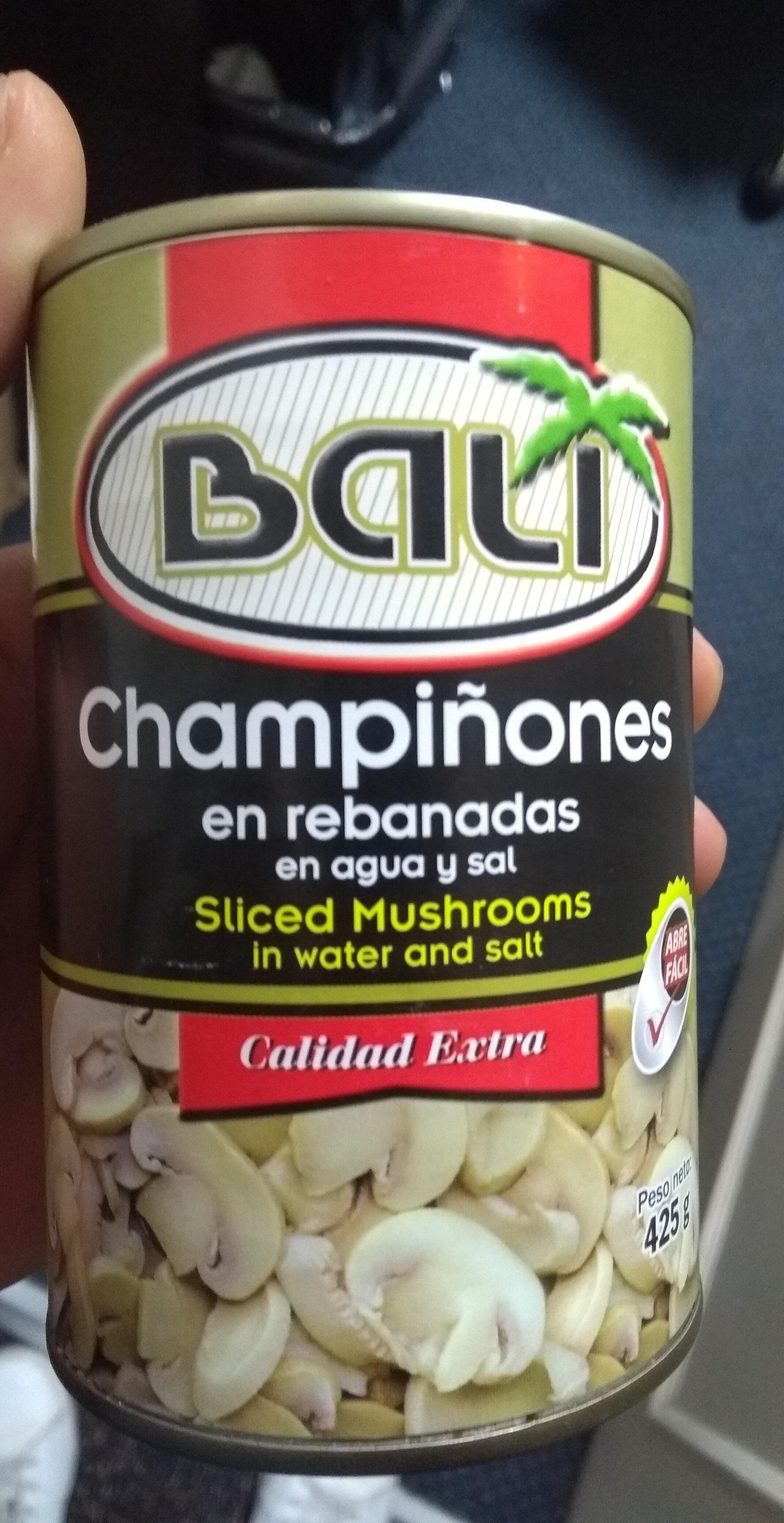 Champiñones en rebanadas en agua y sal - Product - es