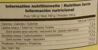 Copos Quinoa Eco - Nutrition facts