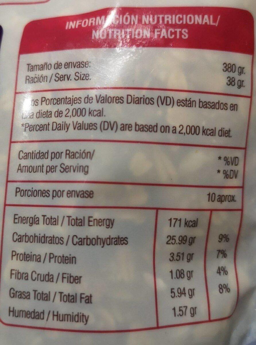 Granola con Avena y ajonjoli - Nutrition facts