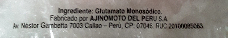Aji-no-moto - Ingrediënten - es