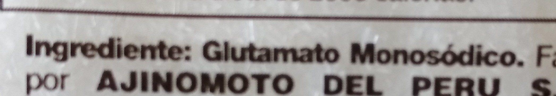 Glutamato monosódico - Ingredientes