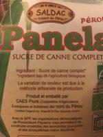Panela - Ingrédients - fr