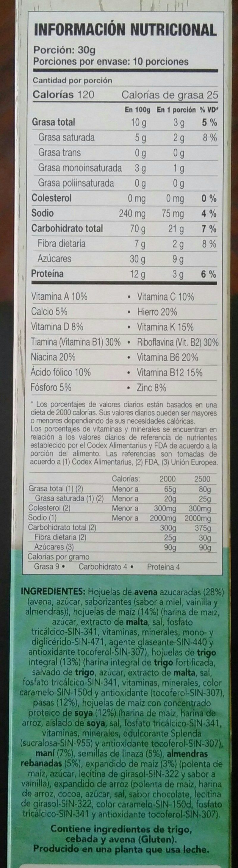 life granola - Ingrédients - en