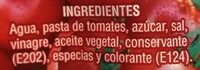 Ketchup - Ingrédients - es