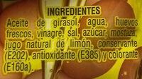 Mayonesa - Ingredients - en