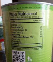 Puré de manzana - Nutrition facts - fr