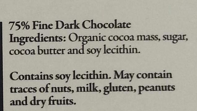El ceibo, fine dark chocolate - Ingredients