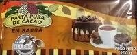 Pasta pura de Cacao en Barra - Produto - es