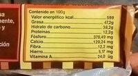 Pasta pura de Cacao en Barra - Informação nutricional - es
