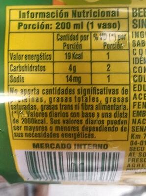 Oriental mirinda - Informations nutritionnelles - es