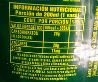Guaraná Antárctica - Informations nutritionnelles - es