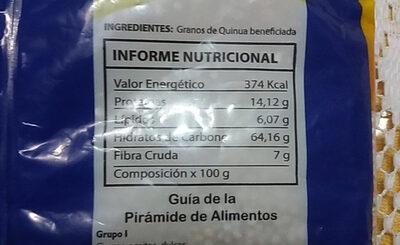 Quinua en Grano - Informations nutritionnelles - es
