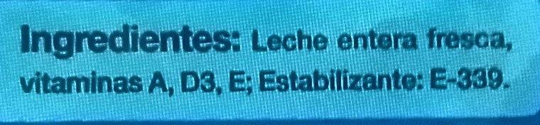 Leche Natural Larga Vida - Ingredients
