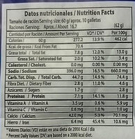Salvado Natural - Informations nutritionnelles - es