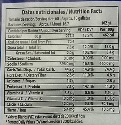 Salvado Natural - Nutrition facts