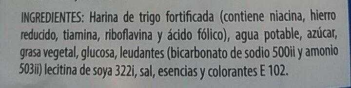Galletas Jungla - Ingredients - es