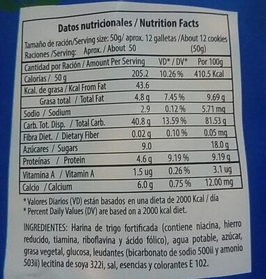 Galletas Jungla - Nutrition facts - es