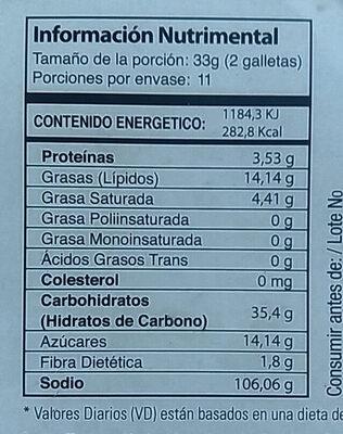 Qkies - Nutrition facts - es