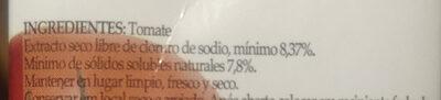 De la Huerta: puré de tomates - Ingredienti - es