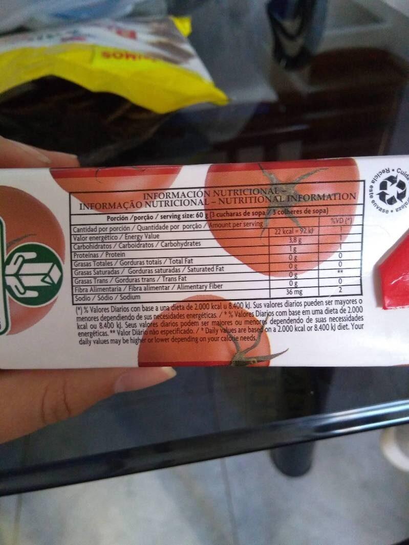 De la Huerta: puré de tomates - Informations nutritionnelles