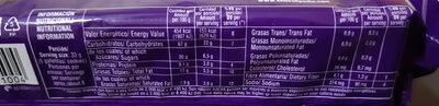 chocolinas - Nutrition facts - es