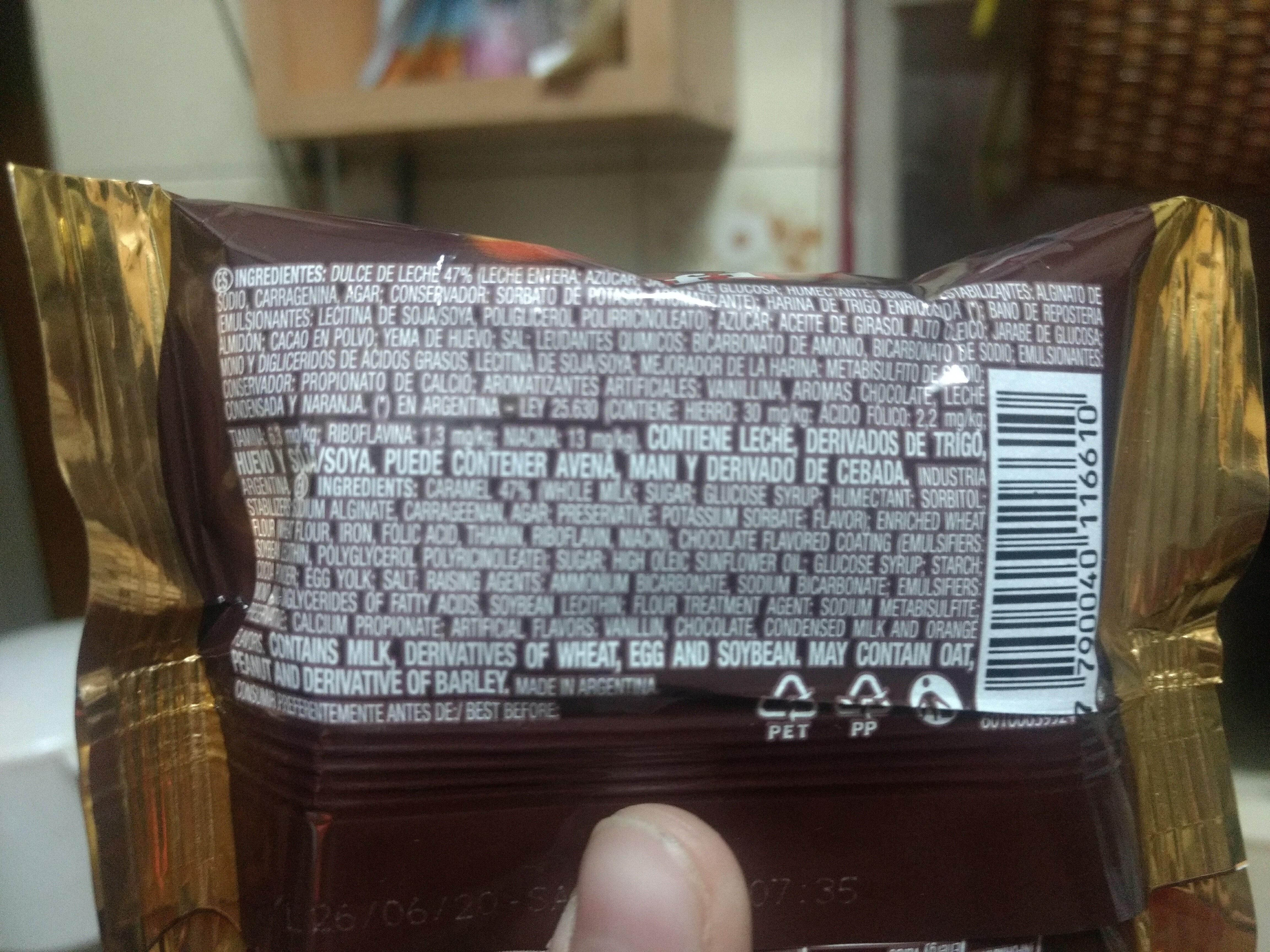 Alfajor Tofi Negro - Ingredients - es
