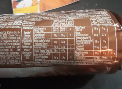 Maná rellenas sabor chocolate - Nutrition facts - es