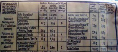 Hogareñas Sésamo - Informations nutritionnelles - es