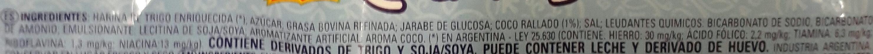 Coquitas - Ingrédients - es
